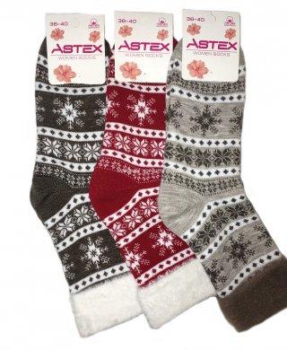 17 носки женские махровые Astex
