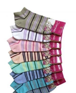 С8А1 носки женские короткие полоска Veronis