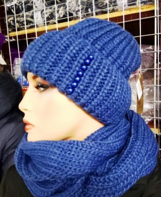124 комплект женский(шапка+снуд)