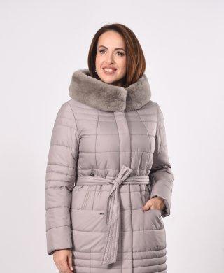 1888-3-T пальто женское(мех) Klasika Moda