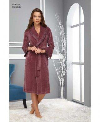 0359 халат женский длинный(шаль)