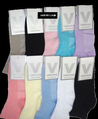 С8А7 носки женские корткие однотонные Veronis