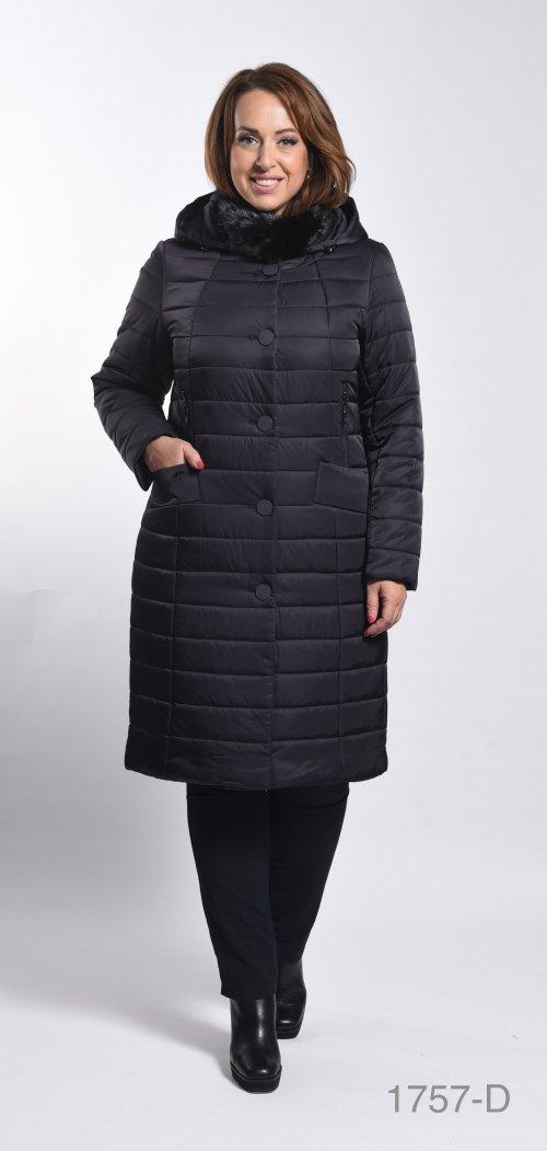 1757-D пальто женское(мех) Klasika Moda