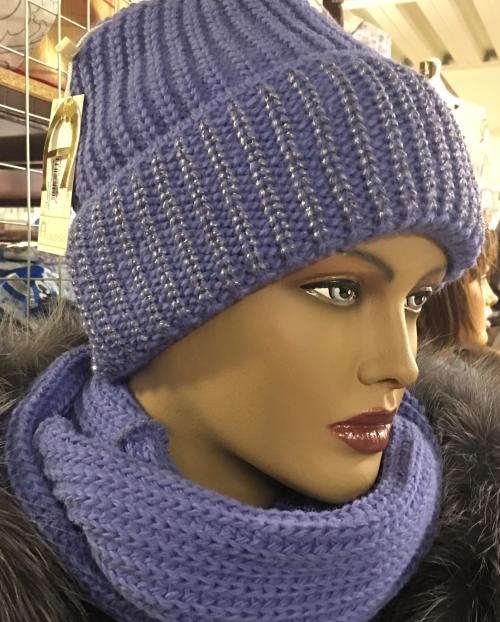 116 комплект женский(шапка+снуд)