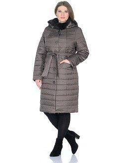 1856-5-3-D пальто женское(мех) Klasika Moda
